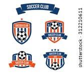 set of emblems for football... | Shutterstock .eps vector #312210611