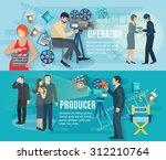 film shooting horizontal... | Shutterstock .eps vector #312210764
