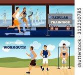 trainer horizontal banner set... | Shutterstock .eps vector #312210785