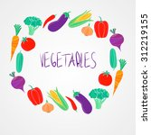 vector organic food  colorful... | Shutterstock .eps vector #312219155