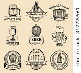 old brewery logos set. kraft... | Shutterstock .eps vector #312220961