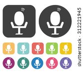 microphone icons set. vector...