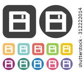 floppy disk icons set. vector...