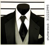 detail of a tuxedo and... | Shutterstock . vector #312222995