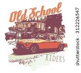 retro car graphics  t shirt ... | Shutterstock .eps vector #312226547