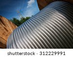 large spools of electric cable | Shutterstock . vector #312229991