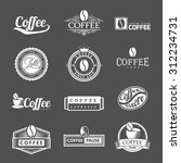 coffee vintage labels logo... | Shutterstock .eps vector #312234731