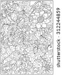 Coloring Page With Vintage...