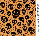 halloween vector seamless... | Shutterstock .eps vector #312251561