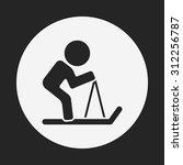 skiing icon | Shutterstock .eps vector #312256787