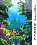 illustration  the sea where the ... | Shutterstock . vector #312262019