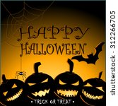 halloween party design vector... | Shutterstock .eps vector #312266705