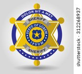 police badge with a star shape... | Shutterstock .eps vector #312268937