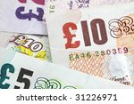 Several British Banknotes As A...