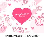 love background with swirl... | Shutterstock .eps vector #31227382