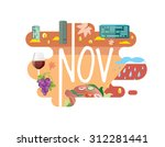 calendar collection   november... | Shutterstock .eps vector #312281441