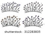 set of simple hand drawn floral ... | Shutterstock .eps vector #312283835