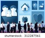 family love home parenting...   Shutterstock . vector #312287561