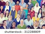 diverse diversity ethnic... | Shutterstock . vector #312288809
