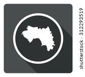 guinea map dark sign icon....