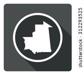 mauritania map dark sign icon....