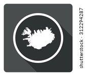 iceland map dark sign icon....