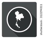thailand map dark sign icon....