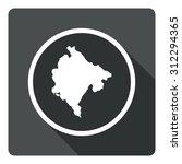 montenegro map dark sign icon....