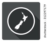 new zealand map dark sign icon. ...