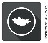 mongolia map dark sign icon....