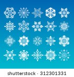20 snowflakes icon collection. | Shutterstock .eps vector #312301331