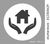 house vector icon   Shutterstock .eps vector #312303629