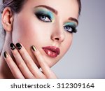 close up face of  a beautiul... | Shutterstock . vector #312309164