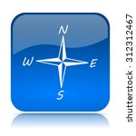 blue compass icon button on... | Shutterstock . vector #312312467