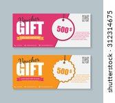 voucher  gift certificate ... | Shutterstock .eps vector #312314675