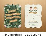 rustic wedding invitation card... | Shutterstock .eps vector #312315341