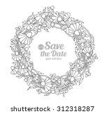 daisy  camomile  chamomile wild ... | Shutterstock .eps vector #312318287