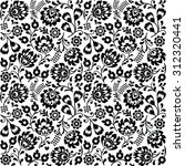 seamless polish folk art black...   Shutterstock .eps vector #312320441