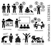 entrepreneur creating a startup ... | Shutterstock .eps vector #312328811