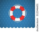 lifebuoy icon no a blue... | Shutterstock .eps vector #312346601