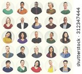 diverse people multi ethnic... | Shutterstock . vector #312347444