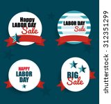 happy labor day sale coupon ... | Shutterstock .eps vector #312351299