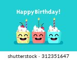 happy birthday  | Shutterstock .eps vector #312351647