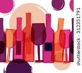 abstract seamless vector... | Shutterstock .eps vector #312351791