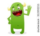 Green Monster  Illustration