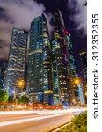 traffic lights at night in... | Shutterstock . vector #312352355