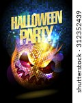 halloween party poster with... | Shutterstock .eps vector #312352439