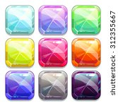 colorful vector crystal square...