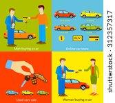online car store. vector... | Shutterstock .eps vector #312357317