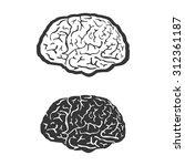 brain human symbol medicine... | Shutterstock . vector #312361187